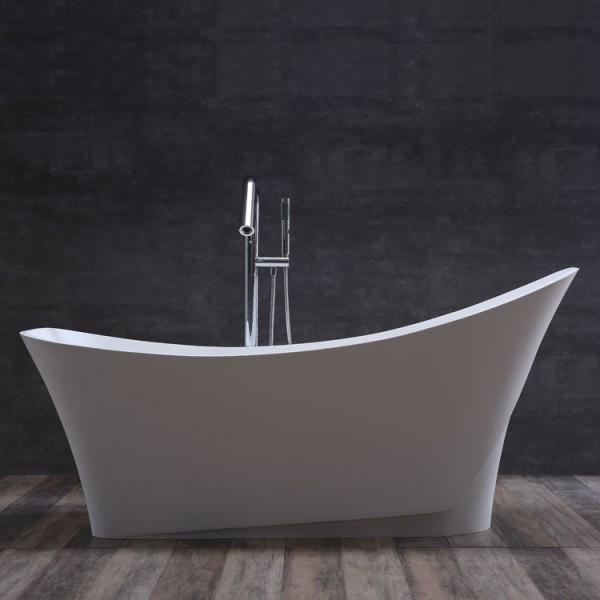 StoneArt Badewanne freistehend BS-501 weiß 165x84 matt