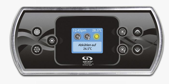 Eine Serie von Touchscreen-Bedienelementen