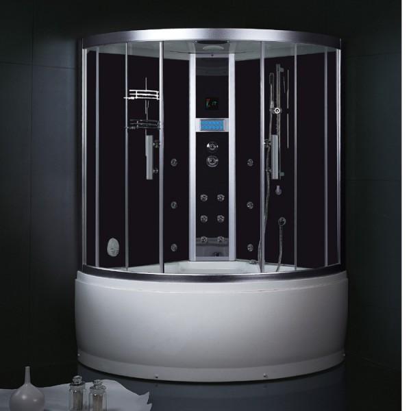 Eago Dampfdusche DA325HF8 weiß, silber oder schwarz 135x135x222cm