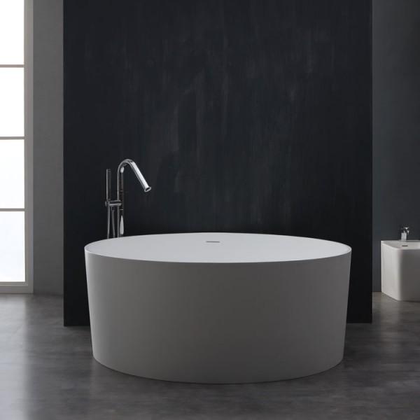 Badewanne freistehend StoneArt BS-507 weiß 150x150cm