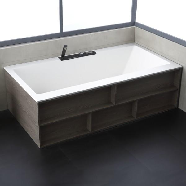 Badewanne freistehend StoneArt BS-536 weiß 188x100 cm