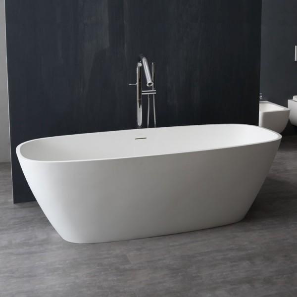Badewanne freistehend StoneArt BS-528 weiß 175x75