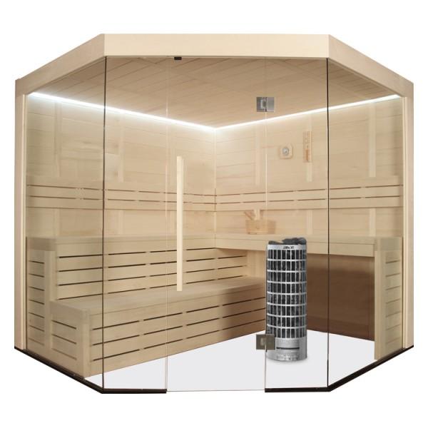 AWT Sauna E1201 Pappelholz