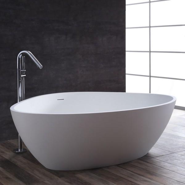 StoneArt Badewanne freistehend BS-533 weiß 180x140