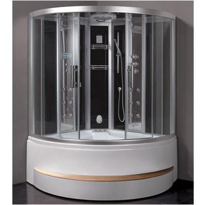 Eago Dampfdusche DA324HF8-1 weiß oder schwarz 150x150x225cm