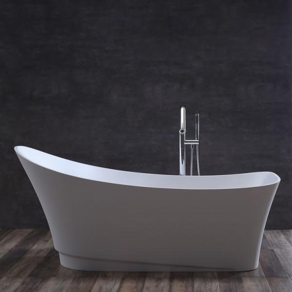 StoneArt Badewanne freistehend BS-527 weiß 180x75 matt