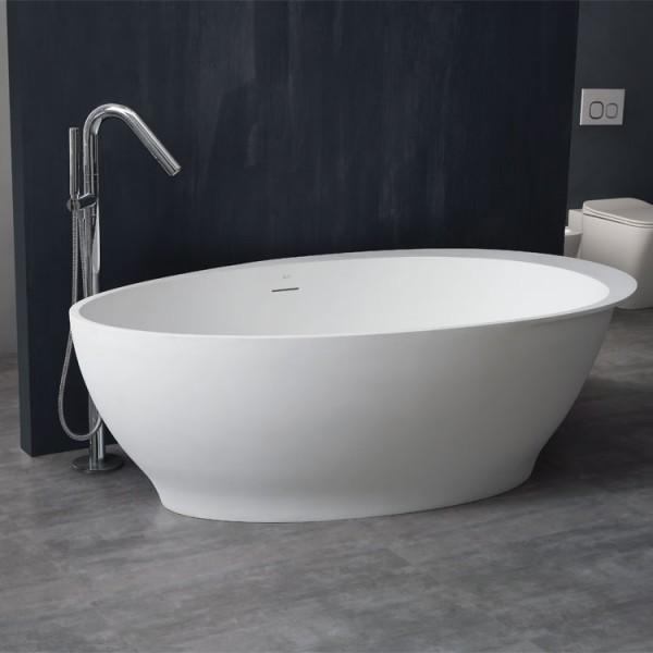 Badewanne freistehend StoneArt BS-516 weiß 180x104cm