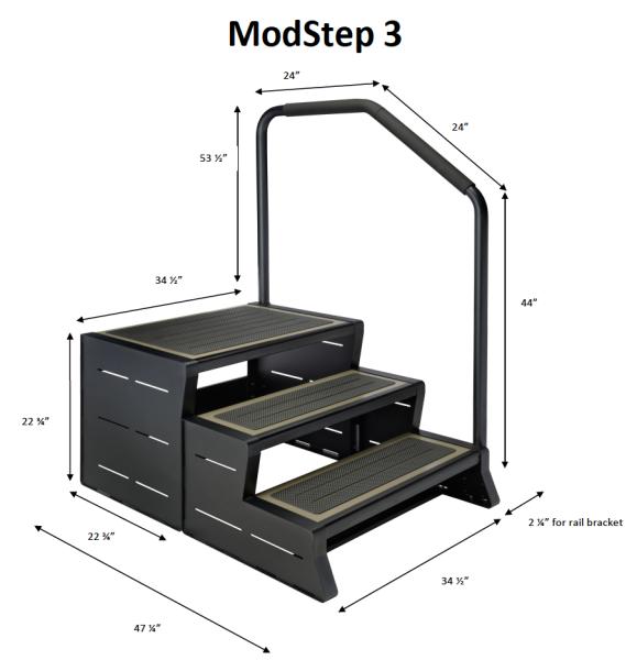Handlauf für ModStep 3 Links oder Rechts