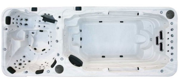 EO-SPA Swim-Spa Innovation IN-5.8 Dual Silver Marbel
