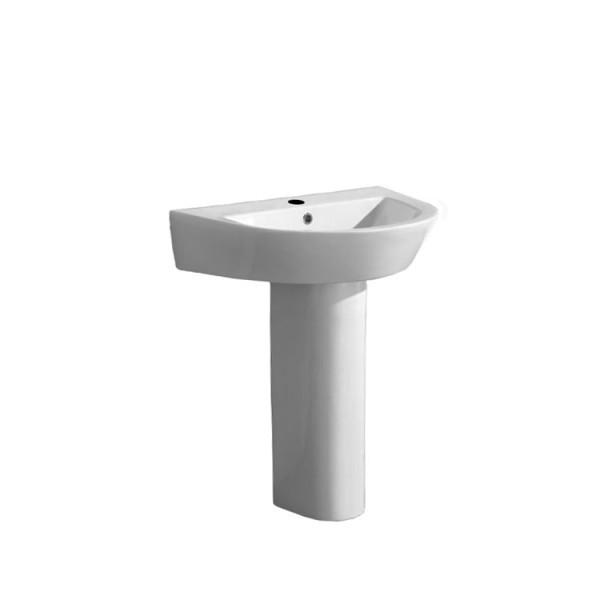 Waschbecken EAGO BD332-1E mit Vollsäule