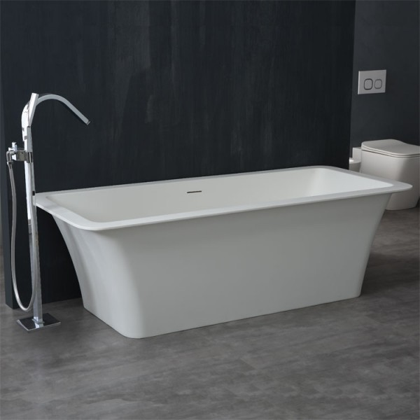 Badewanne freistehend StoneArt BS-502 weiß 179x80cm