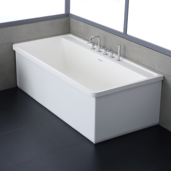 Badewanne freistehend StoneArt BS-537 weiß 180x88 cm