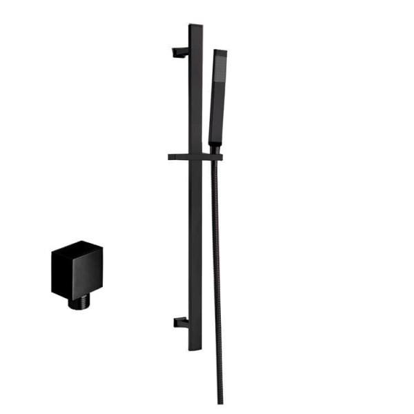 STONEART Handbrausen-Set 870408-2 schwarz matt