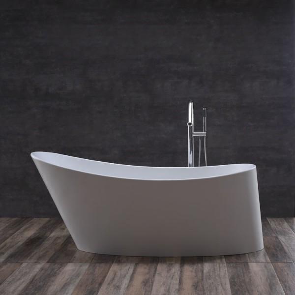 Badewanne freistehend StoneArt BS-503 weiß 179x80cm