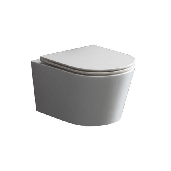 StoneArt WC Hänge-WC TMS-507P weiß 52x38cm glänzend